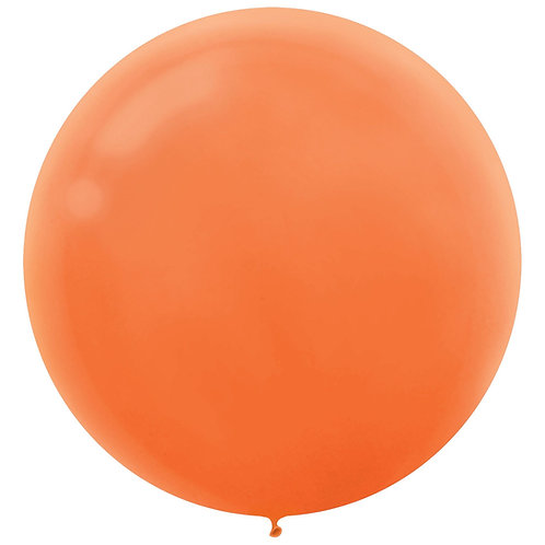 24 inch Orange Latex filled with helium