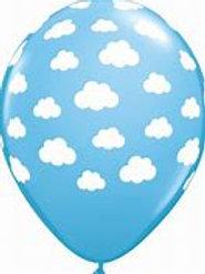 11 in cloud printed latex balloon