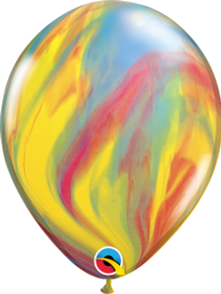 Agate Multi Swirl Latex 11 inch with helium