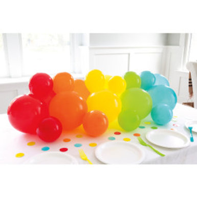 Balloon Garland Table Runner with Confetti Cutouts