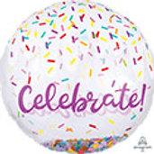 Birthday Super Shape Confetti Balloon