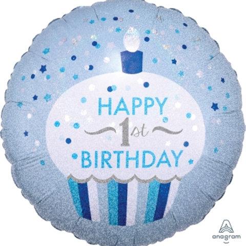 "18""Birthday Foil Balloon 1st Birthday"