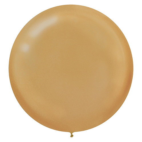 24 inch gold pearl latex filled with helium