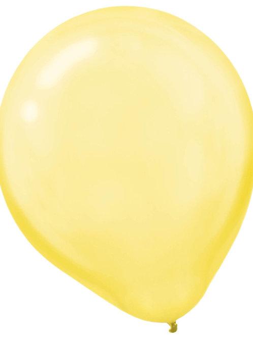 11 in yellow pearl latex balloon