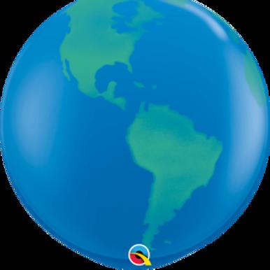 36 inch Earth Latex balloon with helium