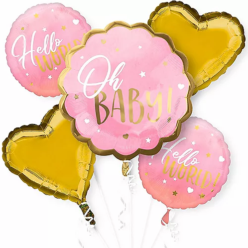 Oh Baby Girl Balloon Bouquet #52