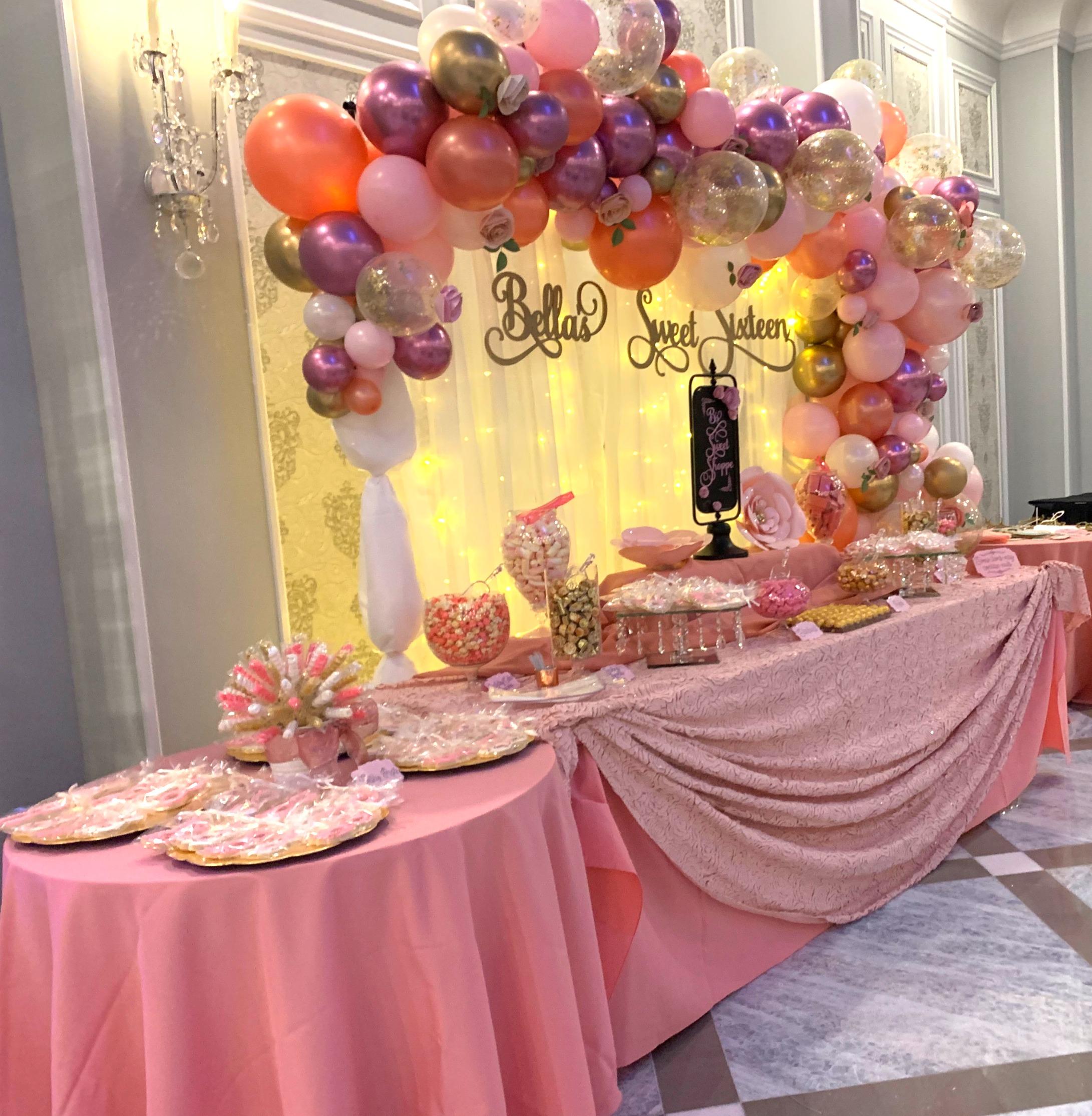 Dessert & candy buffet service