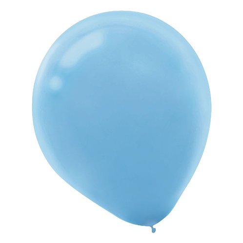 11 in light blue latex balloon
