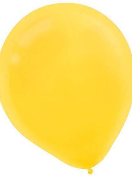 11 in yellow latex balloon