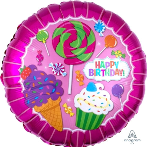 "18"" foil Balloon Candy Cupcake Sweet Treats"