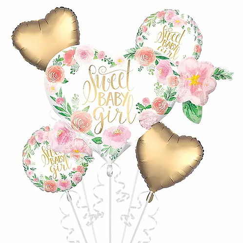 Sweet Baby Girl balloon Bouquet #51