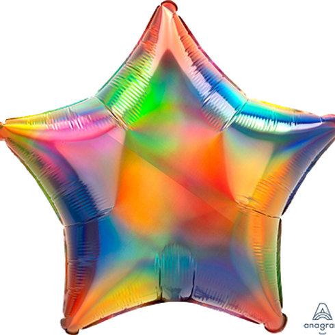 """18"""" foil Balloon iridescent rainbow"""