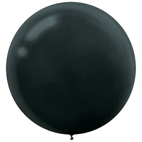 24 inch black latex filled with helium