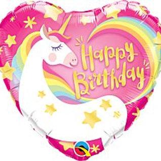 """18"""" foil Balloon Unicorn"""