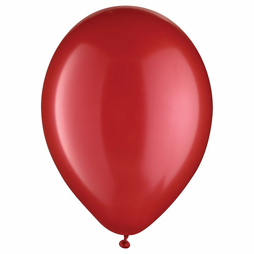 11 in Red Pearl latex balloon