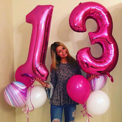 Jumbo number balloons available at Party