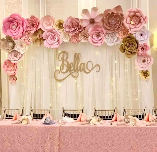Custom flower wall rentals