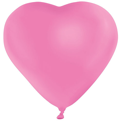 11 pink Heart Latex filled with helium