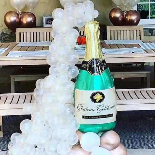 DIY Poppin Bottles Balloon Display