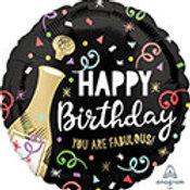 "18"" foil Balloon Champagne"