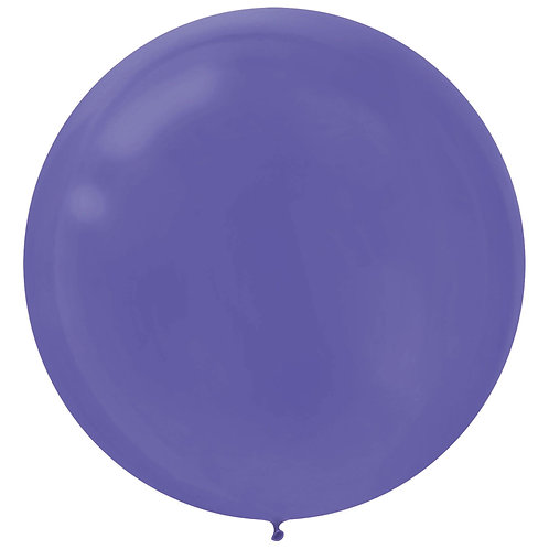 24 inch purple latex filled with helium