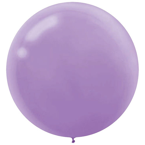 24 inch lavender latex filled with helium