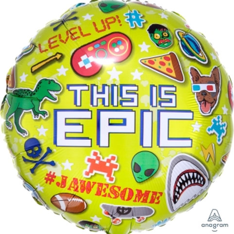 "18"" foil Balloon Gaming Epic"