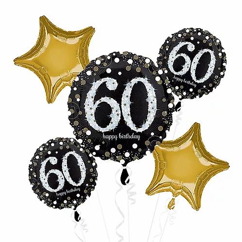 Birthday 60 Balloon Bouquet #43