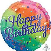 """18""""Birthday Foil Balloon Rainbow"""