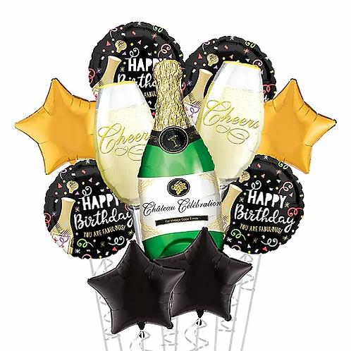 Jumbo Champagne Birthday Balloon Bouquet #12