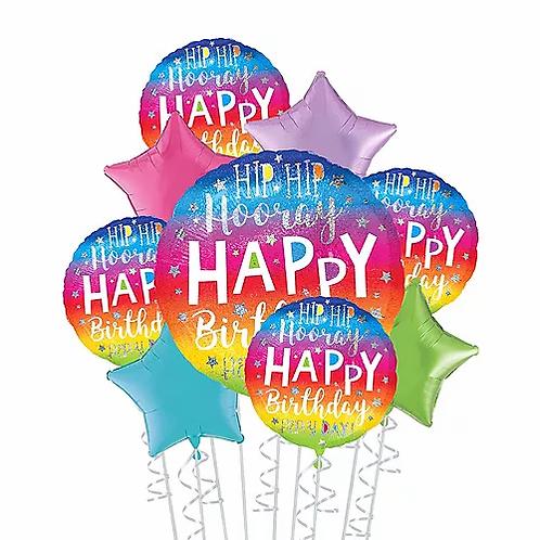 Big Hip Hip Hooray Birthday Balloon Bouquet #7