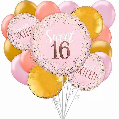 Birthday Sweet Sixteen Big Balloon Bouquet #38