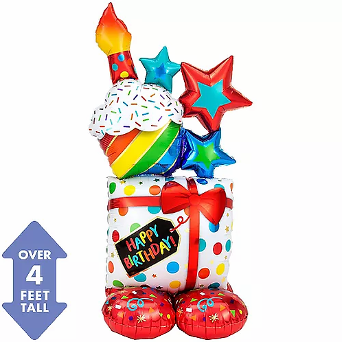 Jumbo Airloonz Balloon Present/cupcake