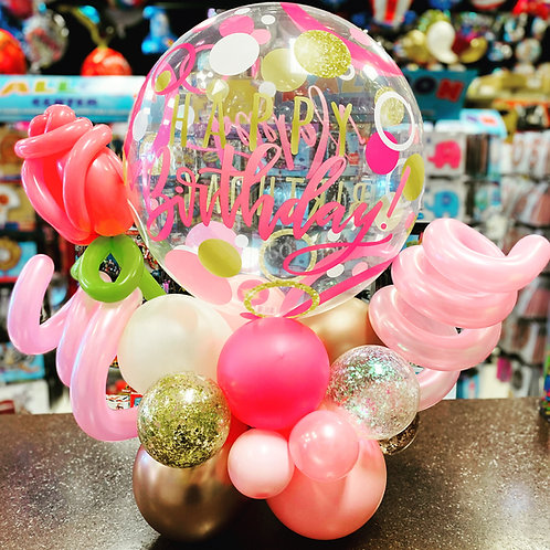 Happy Birthday Tabletop balloon arrangement