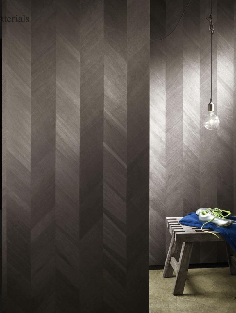 Sustainable Design - Wallpaper - Maya Romanoff Ajiro Chevron Wood Veneer Hand-Finished in Chicago