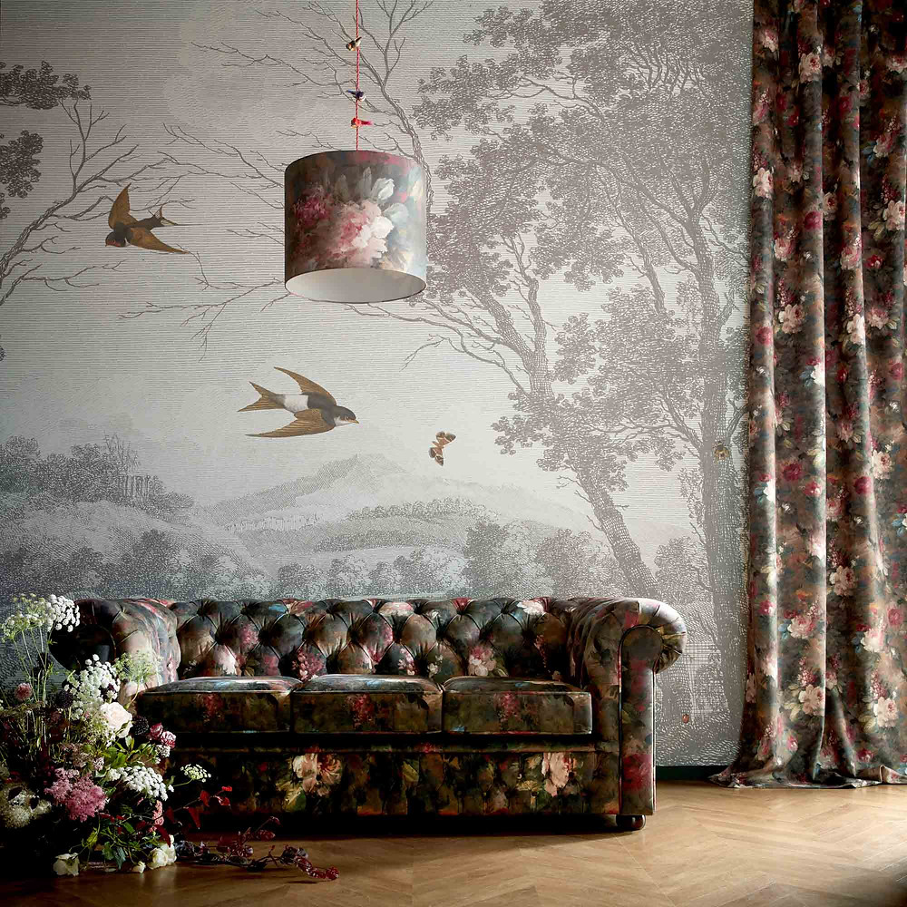 Sustainable Design - Wallpaper - Woodchip & Magnolia' s Zephyr Etched Scenic Wall Mural