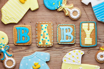 baby shower themed cookies