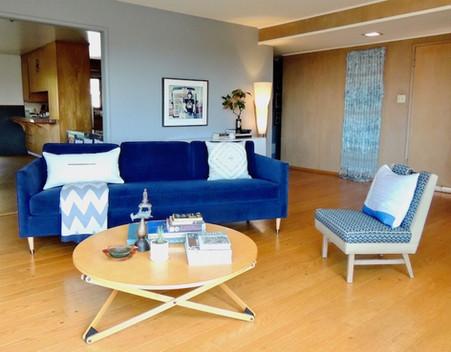 East Bay Midcentury Living Room