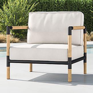 Sustainably Designed Furniture - Crate & Barrel Barra Teak & Metal Lounge Chair