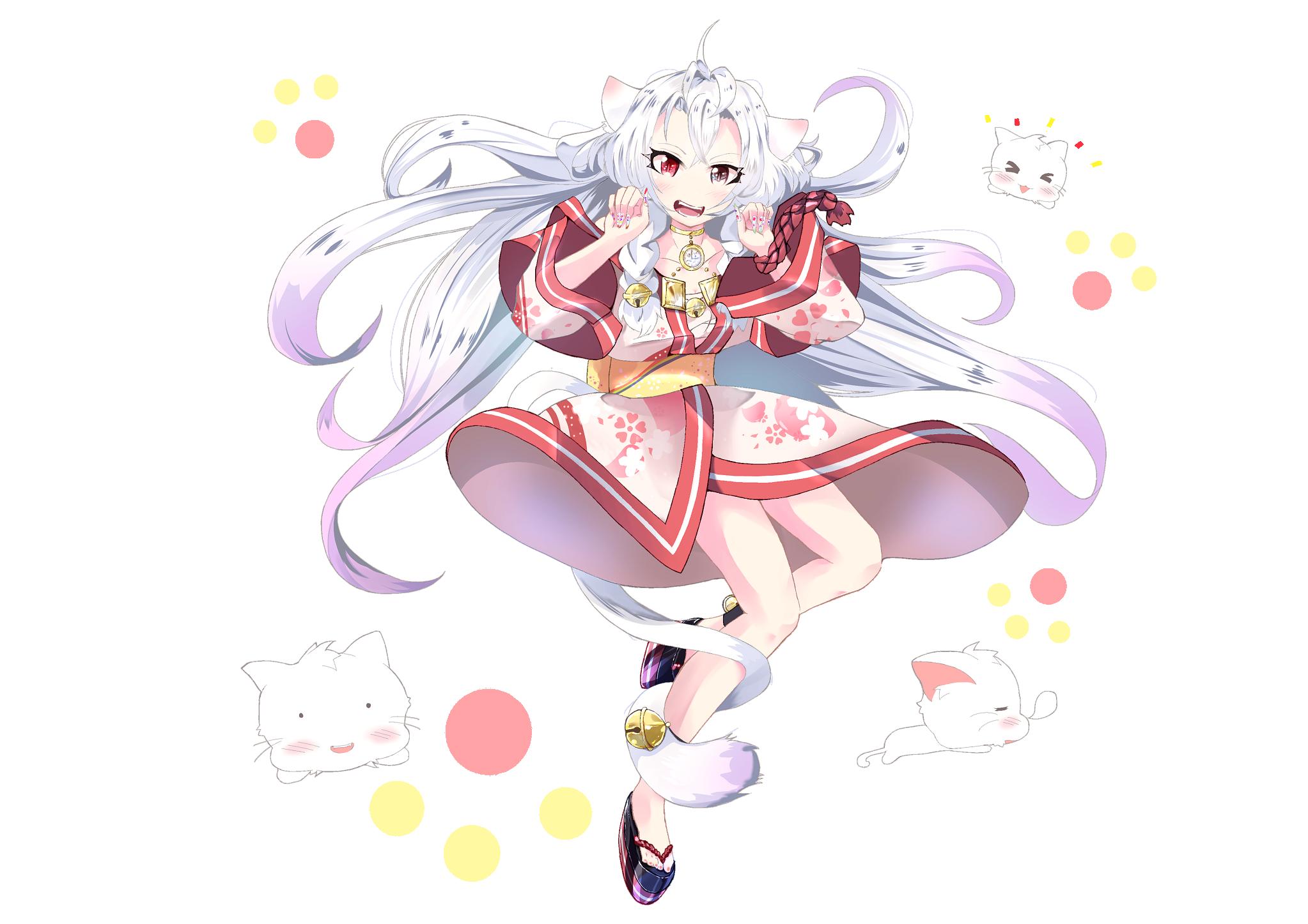 猫の擬人化 桜の精霊