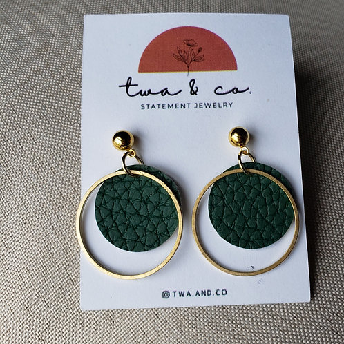 twa Earrings Circle with Hoop