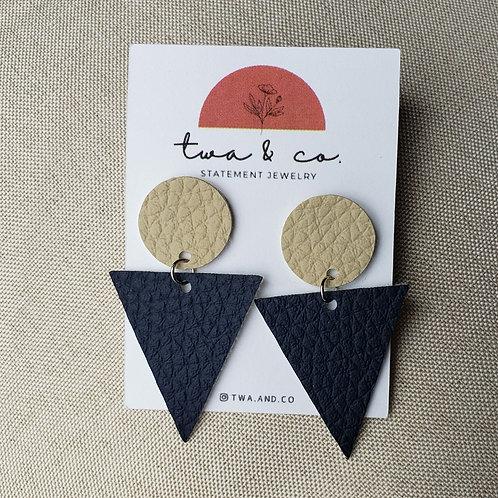 twa Earrings Triangle & Circle
