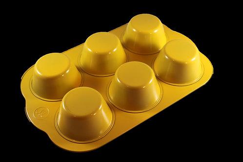Yellow Jumbo Muffin Pan (6 cup)