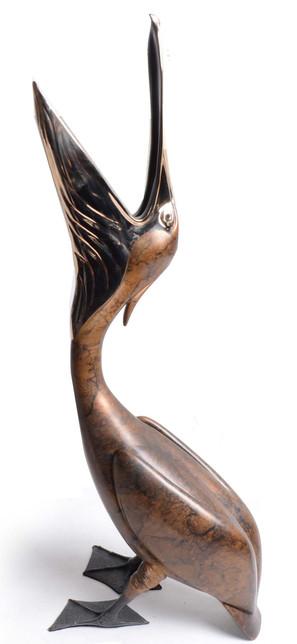 Open Beak Pelican
