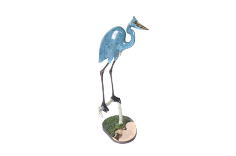 Heron on Driftwood