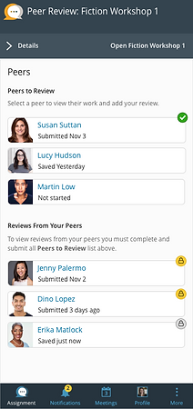 Mobile, Student View, View Peer List.png