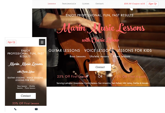 Cherie Lebow Design: Marin Music Lessons, Design & SEO