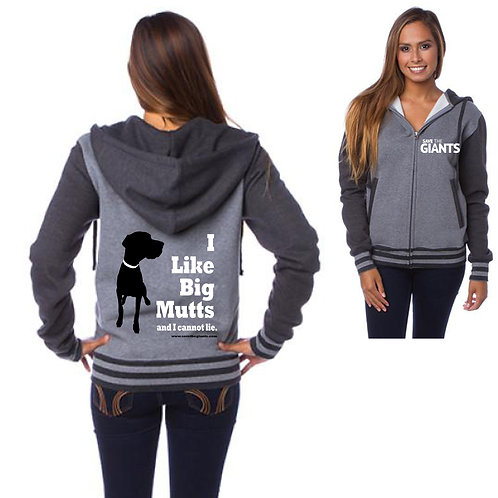 Ladies Varsity Hoodie in GREY