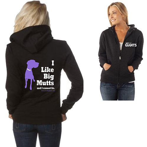 Ladies Zipper Hoodie in BLACK