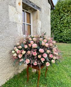 Grand coussin de roses espérances